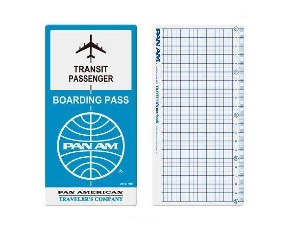 Midori 2016 Traveler's Notebook PAN AM LIMITED EDITION Plastic Sheet