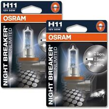 100% Original Osram Night Breaker Unlimited Headlight Bulbs Bulb H11 55W
