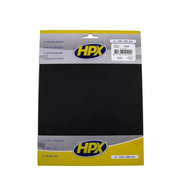 Papier abrasif carrosserie, eau P600 - HPX