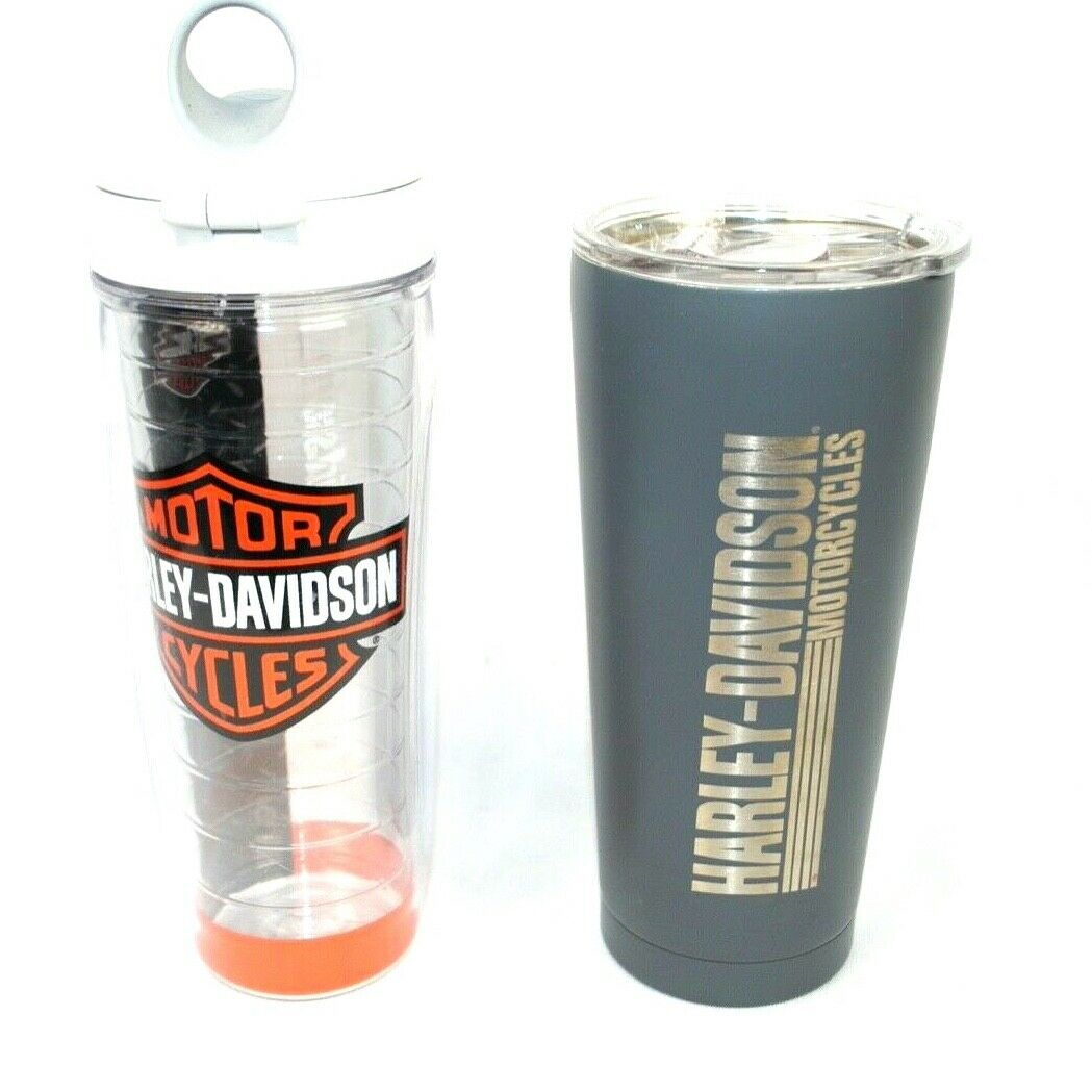 Harley Davidson Motor Cycles Tervis Tumbler Lot Of 2 Bar Plastic Clear Cup For Sale Online Ebay