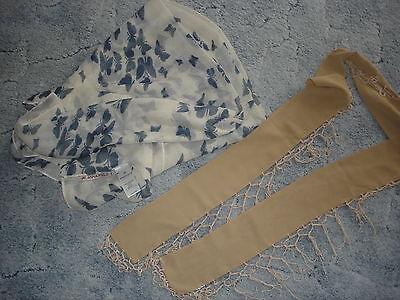 WohltäTig 2 X Tuch/schlauchschal Schmetterling Neu Und Schmales Tuch