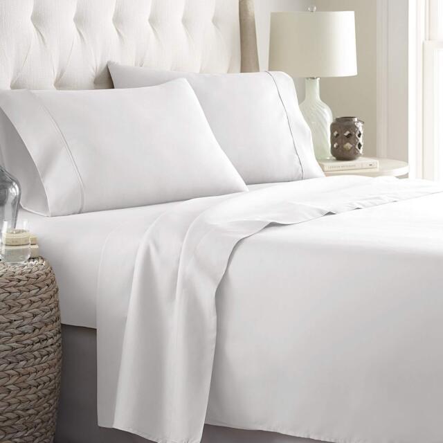 Luxury Microfiber Bed Sheets Set Top Quality Softest Bedding Deep Pocket Bedroom