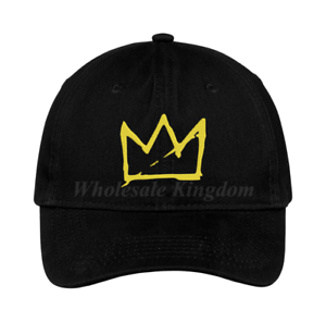 Basquiat Crown Hat Music Hip Hop Rapper Trap Baseball Dad Cap Gift ... 16fb4ab60f23