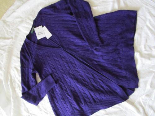 Violet Nouveau Tezandra Tricotée Ralph Lauren M Veste Taille Uq4nH1O