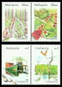 SJ-100th-Years-of-Matang-Mangroves-Park-Malaysia-2004-Bird-Flower-stamp-MNH