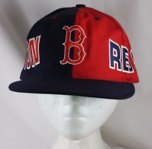 221e643abce Boston Red Sox 2 Tone Red Blue Baseball Cap Snapback Hat American ...