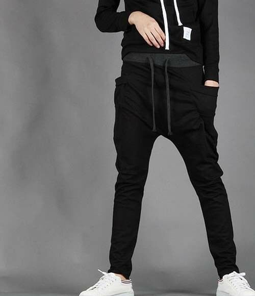 Unisex Men Casual Baggy Harem Taper Pants Dance Sport Trousers Slacks SweatPants