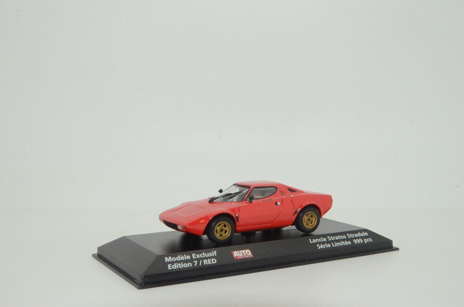 Rare Lancia Stratos modellllerlere Exklusef bilHEBDO röd Minichamps 125024 1  43