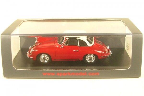Porsche 356 C CABRIOLET rigide (rouge blanc) 1963