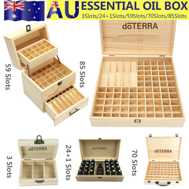 85 Bottle Essential Oil Wooden Storage Box Case Container Aromatherapy AU STOCK