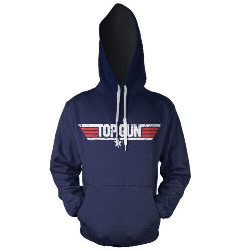 Licence Officielle TOP GUN vieilli Logo Sweat à Capuche S-XXL tailles