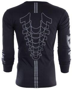 TRUE RELIGION Mens LONG SLEEVE T-Shirt MOTO PUFF Black Grey Print $99 Jeans NWT