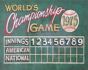 Details about Baseball Scoreboard Print vintage style art, mancave, sports  Kids room decor