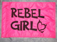 Custom Rebel Girl Flag For Atv Dirt Bike Dune Safety Flag