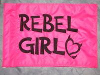 Custom Rebel Girl Flag For Atv Dirt Bike Dune Safety Flag