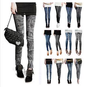 14 Donna Pantacollant Pantaloni Effetto Leggins Modelli Jeans MzUVLqGSp
