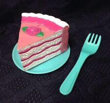 VTG FISHER PRICE Pretend Play Food Dish Plate Fork CAKE SLICE Dessert