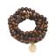 Oeil de Tigre Pierre yoga lotus Collier Pendentif Pure main PIERRE NATURELLE PERLES 108