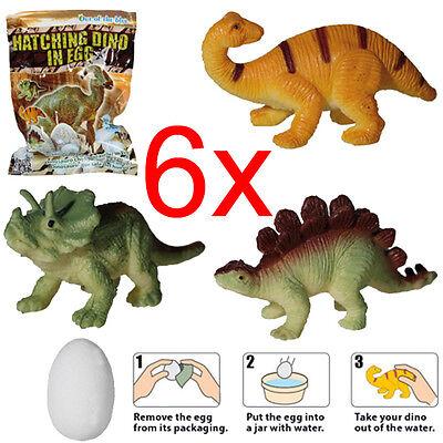 6 pcs Magic Dinosaur Eggs Hatching Dino Growing Cute Kids Childre Gift I5S5 D6T4
