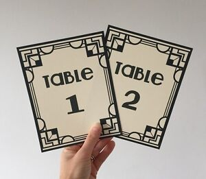 Art-Deco-Gatsby-Wedding-Table-Numbers-Name-Cards-Party-Sign