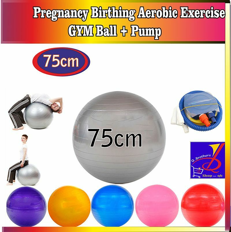 Embarazo Parto ejercicio Aeróbico De Gimnasio Gym Yoga Ball Tamaño 75cm vendedor Reino Unido