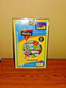 Leap-Frog-LeapPad-Phonics-Lost-and-Found-Lesson-5-New-Book-and-game-cartridge