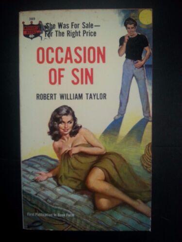 Taylor Monarch Books 1963 Sleaze//GGA//Fiction//Adult//Pulp E-77 Occasion of Sin