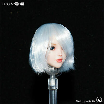 Female Head Beauty Sculpt 1//6 Carved Model Normal Strabismus Fit PH Body YMT Toy