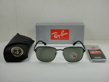 266fa56c048 Ray-Ban RB 3570 90049a Silver Top Shiny Black Sunglasses Green Polarized  58mm