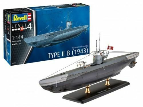 Revell German Submarine Type IIB in 1:144 Revell U-Boot 05155 1943
