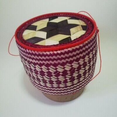Thai Bamboo Basket Kratip Sticky Rice MultiColor Handicraft Art Steamer Cookware