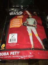 Star Wars Adult Boba Fett 2 Piece Mask Halloween Costume Small Petit Size 6-10