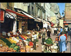 PARIS Rue MOUFFETARD (V°) STAND MARCHANDS de LEGUMES au Marché trés animé