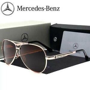 bajo precio 76117 48a0c Detalles de Gafas de sol Mercedes Benz aviador polarizadas