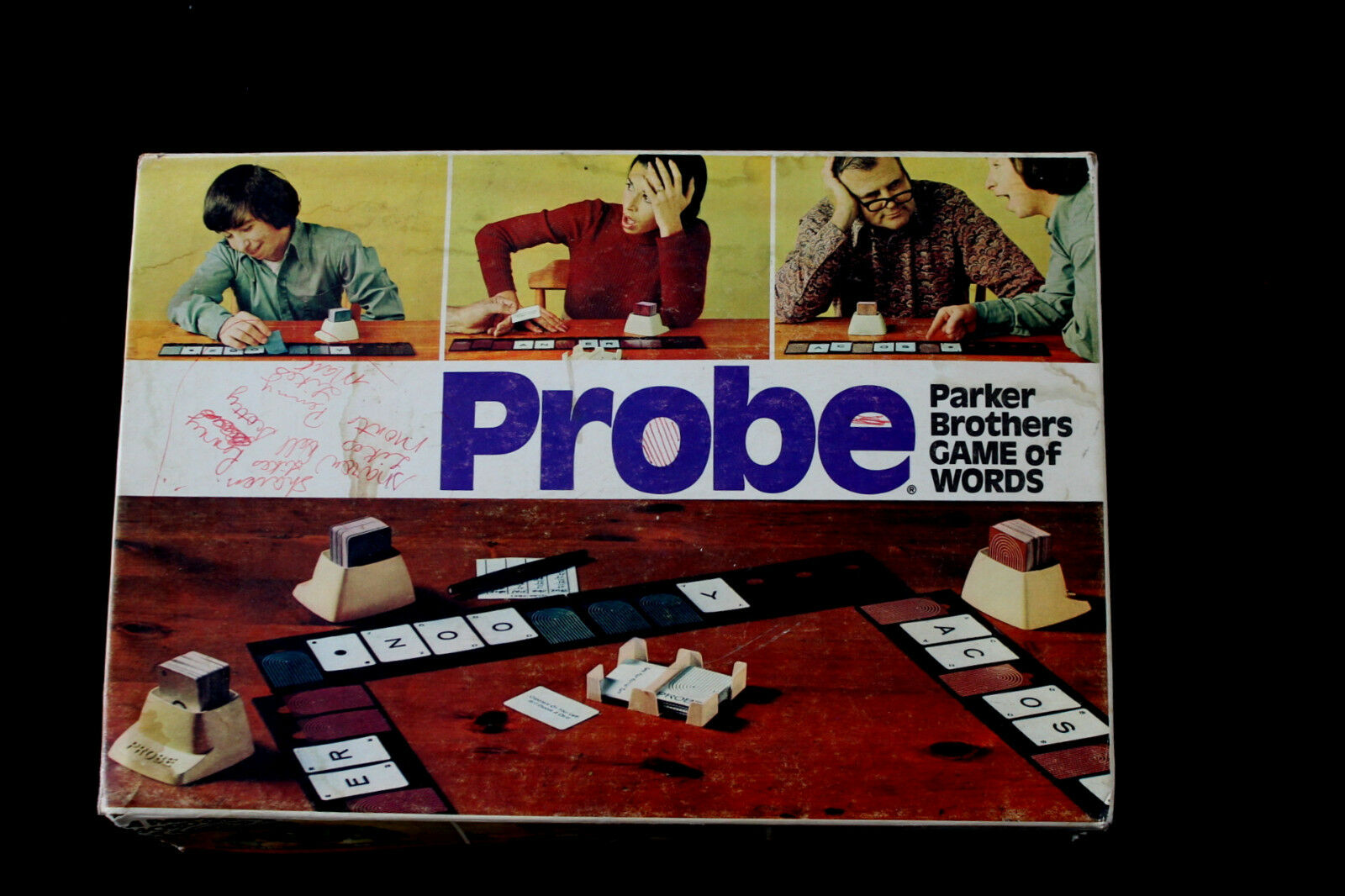 Vintage Probe Board Game of Words 1974 Parker Bredhers Family Fun
