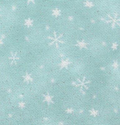 Fabric Flair Snowfall with sparkles 18 count Aida  45 x 50cm