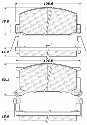 BRAND NEW PRONTO FRONT BRAKE PADS PMD291 D291 FITS VEHICLES ON CHART