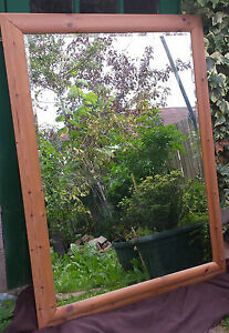 HIGH-QUALITY-LARGE-MIRROR-WITH-BROWN-WOODEN-FRAME-109-5CM-139CM