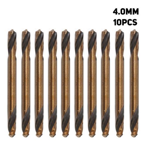 3.0-5.2mm 10pcs HSS Straight Shank Double End Twist Drill Bit Metalwork Tool Kit