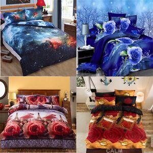 3D-Double-Single-Size-Bedding-Quilt-Duvet-Cover-Pillowcase-Home-Room-Decor-Set