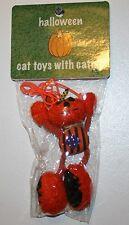 "VO TOYS ""BIG PUPS"" HALLOWEEN CATNIP CAT TOY DANGLER PUMPKIN MAN"