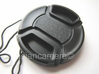 Front Lens Cap For Fuji Finepix Fujifilm S8200 S-8200 + Cap Keeper Snap-on Cover