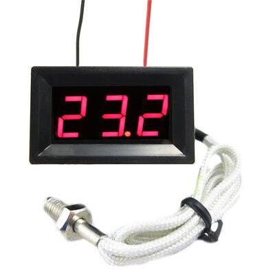 DC 12V LED Digital Thermocouple Thermometer Temperature Meter 0-999°+ 45cm Probe