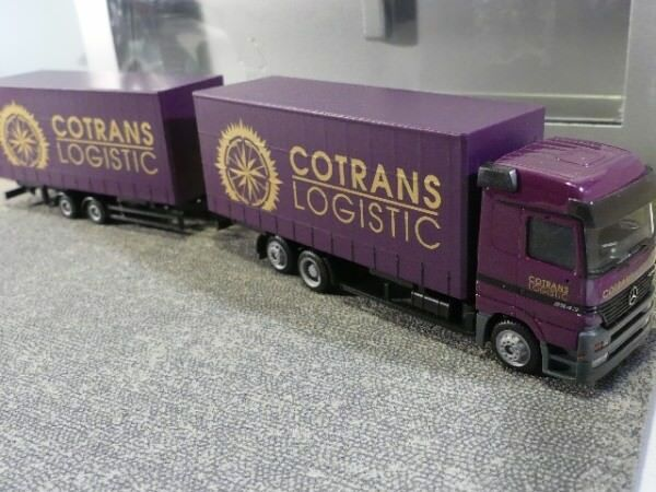 1 87 Herpa MB Actros COTRANS coulissantes planifier Hängerzug B 240925