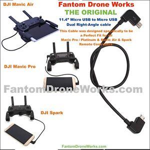 DJI-Mavic-Spark-Air-Short-Control-Cable-Short-Micro-USB-to-Samsung