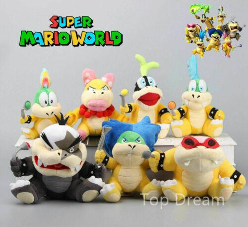 7X Super Mario Koopalings Larry Iggy Lemmy Koopa Wendy Plush Toy Soft Bowser New