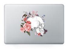 "Flowers Skull Laptop Apple Sticker Viny Decal Macbook Air/Pro/Retina 13""15"""
