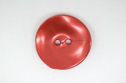 B491-26mm 5 Botones Raro grandes botones perlados plástico italiano-Chaqueta Abrigo De Costura