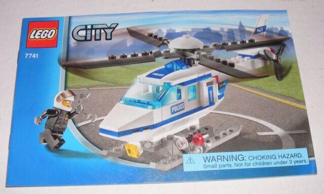 2008 Lego Police Helicopter 7741 Instruction Manual New Ebay