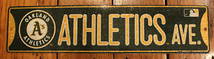 Street-Sign-Oakland-Athletics-Ave-MLB-Lic-Baseball-full-colorful-picture